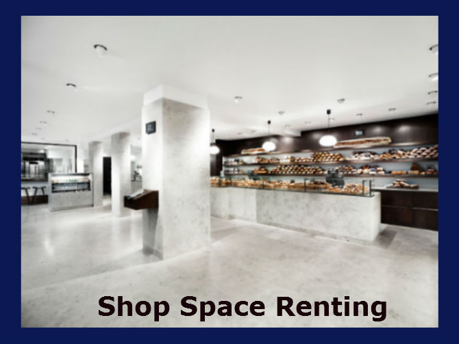 Shop space renting